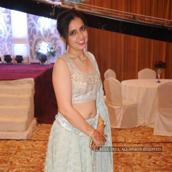 Vini Rughwani during Richa-Gaurav Rughwani's wedding reception, held in Nagpur.