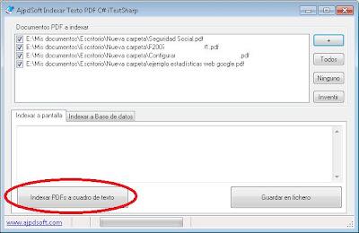 AjpdSoft Indexar Texto PDF C# iTextSharp