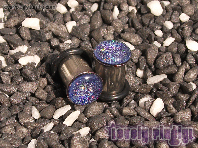 8mm / 0g Sparkle Glitter Plugs