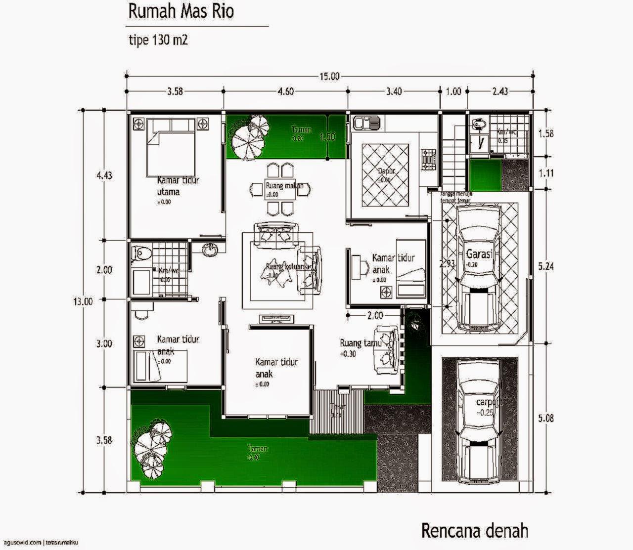 3 Contoh Denah Rumah Minimalis Modern Terbaru: Gallery Taman Minimalis