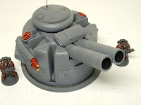 Heavy cannon turret Military Science Fiction war game terrain and scenery - UniversalTerrain.com