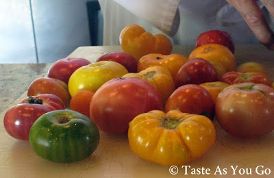 Heirloom Tomatoes at Los Tamarindos in Los Cabos, Mexico - Photo by Taste As You Go