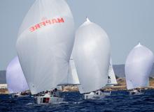 J/80s sailing Palma Mallorca Spain in Mapfre copa del rey