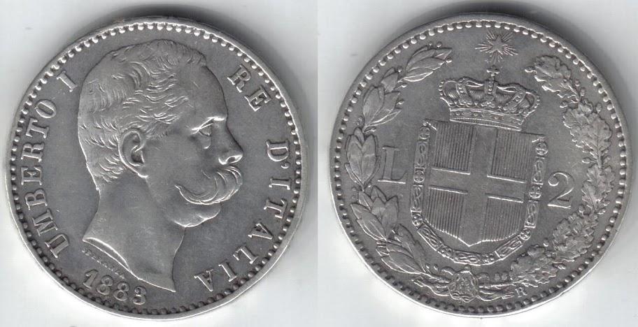 Mi colección de monedas italianas. 2%20liras%201883%20R