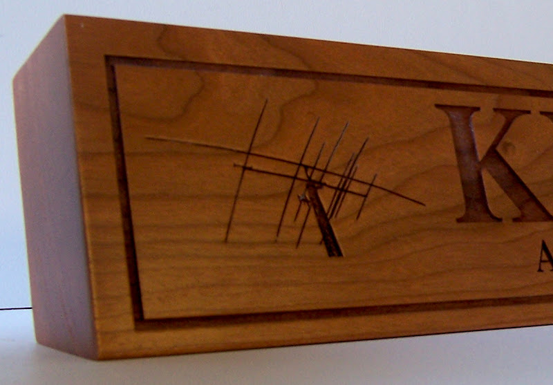 Ham Radio Antenna Engraved Callsign Plaque
