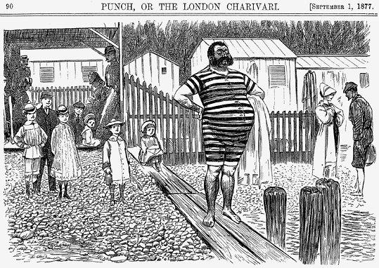 XIX a. vyriškas maudymosi kostiumas