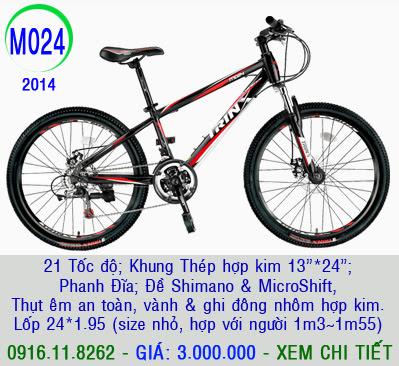 XE ĐẠP THỂ THAO, xe dap the thao, xe dap trinx, xe đạp thể thao chính hãng, xe dap asama,  M024 2014