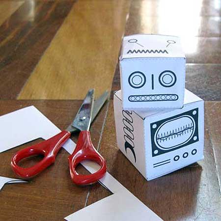 Vegie Smugglers Robot Paper Toy