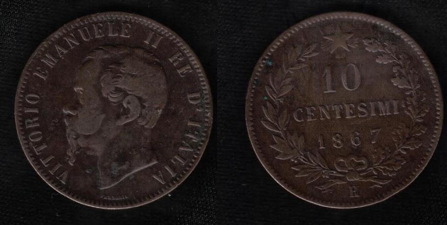 Mi colección de monedas italianas. 10%20centesimi%201867%20R