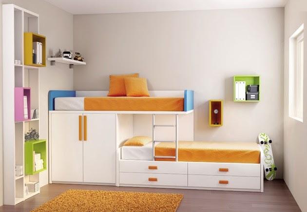 Dormitorios juveniles en color naranja ideas decoraci n ig - Habitaciones color naranja ...