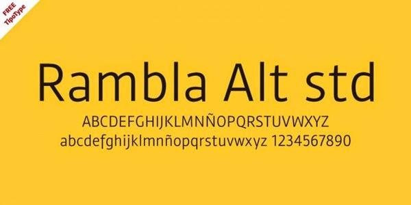 Rambla Alt Free Fonts