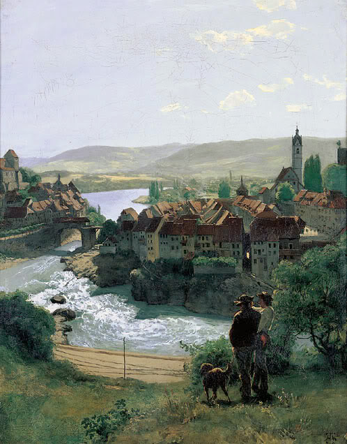Hans Thoma - Niederung am Rhein