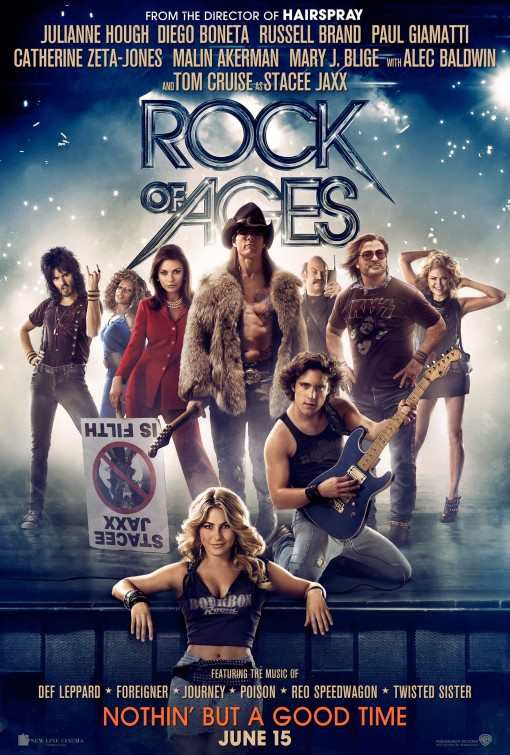 Poster Of Rock of Ages (2012) Full Movie Hindi Dubbed Free Download Watch Online At Alldownloads4u.Com