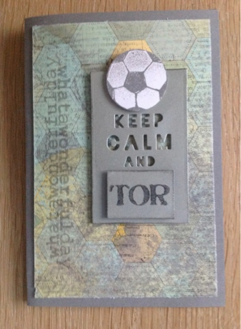 Stampin up Fussball
