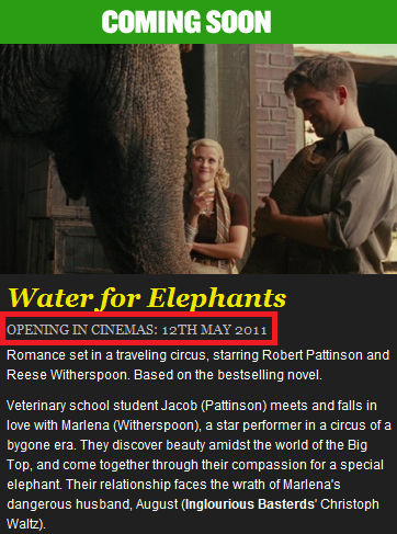 WATER FOR ELEPHANTS (Agua para elefantes) - Página 2 WFE+Pic