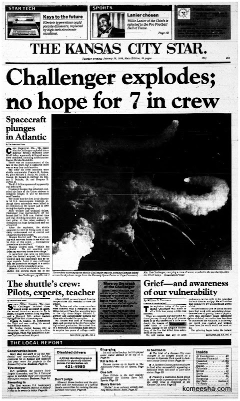 space shuttle challenger newspaper article - photo #4