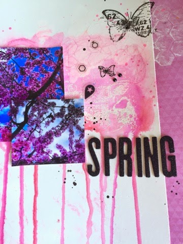 watercolor, scrap, scrapbooking, mix media, neocolors, gelatos, twinkling, heidi swapp, finnabair, sellos,