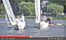 J/70 match race sailing in Hamburg, Germany