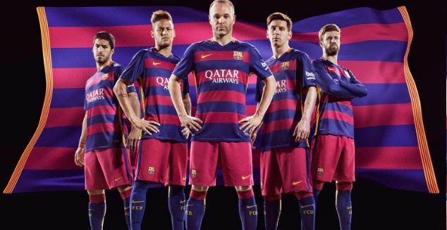 88c16478d05 The is the new official home kit for FC Barcelona for upcoming season 2015- 16