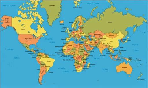 nama negara di dunia