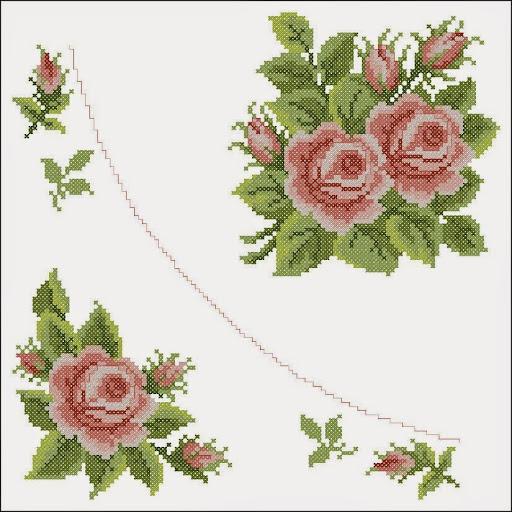 Rosecross stitch pattern