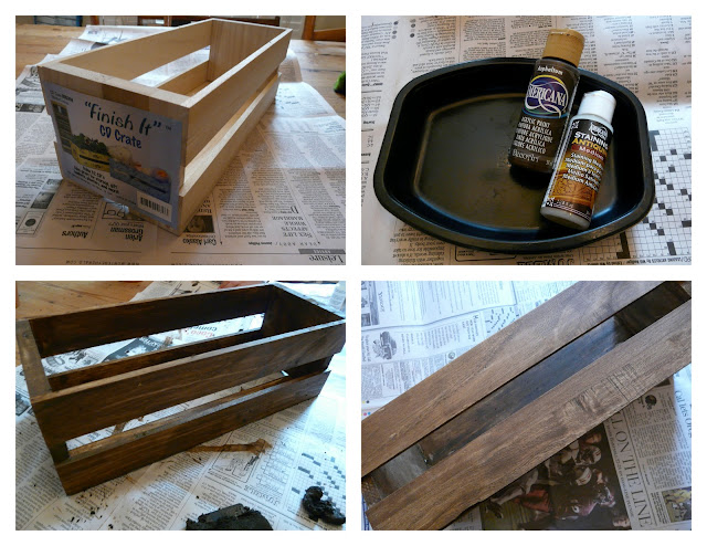 how to antique a crate from the craft store