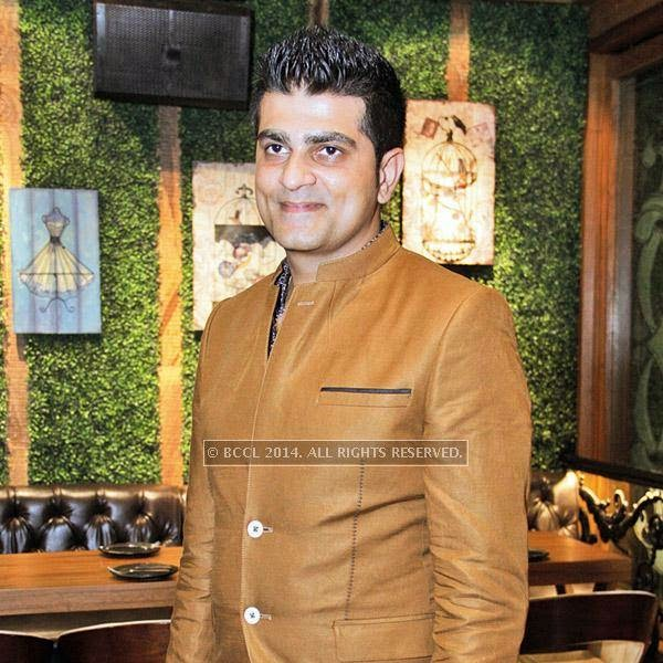 Varun Duggal during the party at Farzi Cafe, held in Gurgaon.