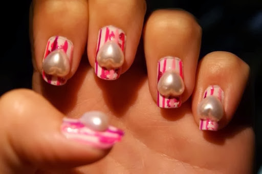 Pink Stripes and Hearts
