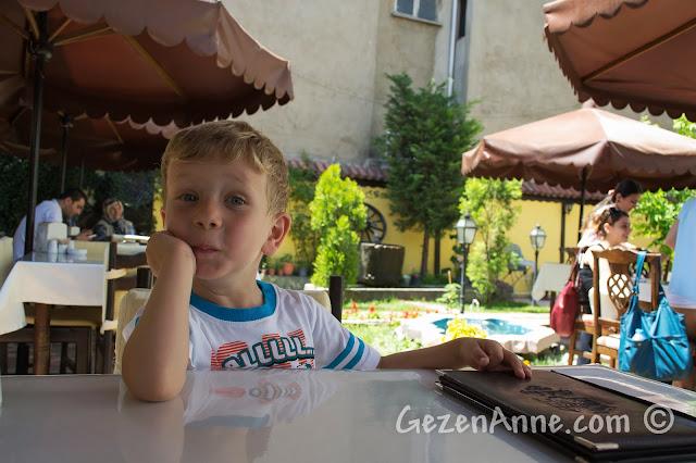 Kastamonu'da Eflanili Konağı'nın bahçesinde