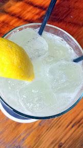 Jacknife PDX cocktail of DAYS OF THUNDER with vodka, lemon, cucumber, mint, jalapeno, Mello Yello