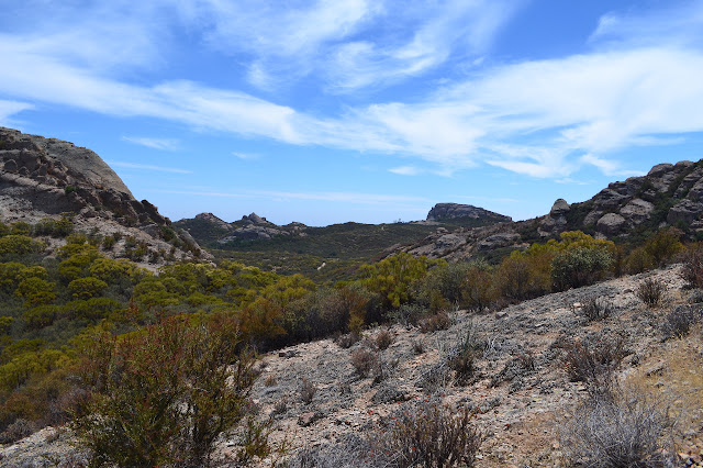 looking down Mishe Mokwa and Chamberlain Trails