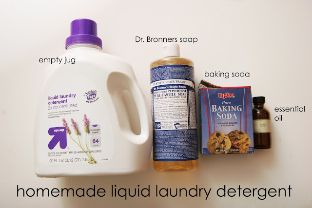 Make your own homemade liquid laundry detergent with just a few simple and natural ingredients!