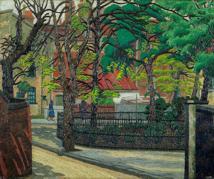 Charles Ginner - Pond Square, Highgate
