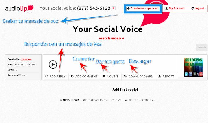 mensajes de voz