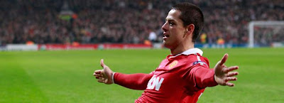 El goleador chicharito hernandez del Manchester United