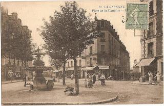 Place du Général Leclerc, ancienne place de la Fontaine - la garenne colombes - carte postale ancienne - cpa