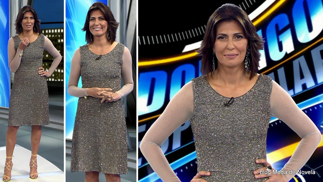 moda do programa Domingo Espetacular - look da Janine Borba