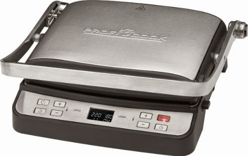 Rost Schwarz Elektrogrill 2000W für fettfreies Grillen mit Standfüßen Ablage