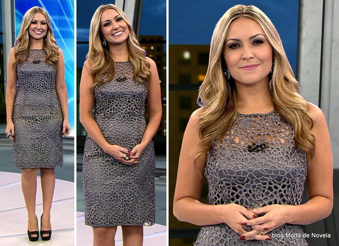 moda do programa Domingo Espetacular - look da Thalita Oliveira dia 7 de setembro