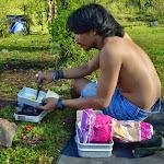 roti bakar, czyli indonezyjskie tosty. podawane ze skonensowanym mlekiem słodzonym albo... majonezem