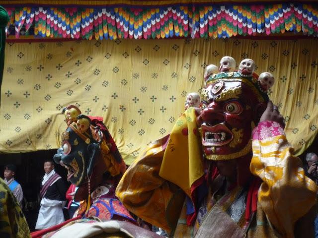 Máscaras de bailarines del festival de Paro, Bután