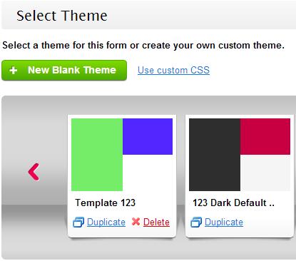 Custom Form Theme
