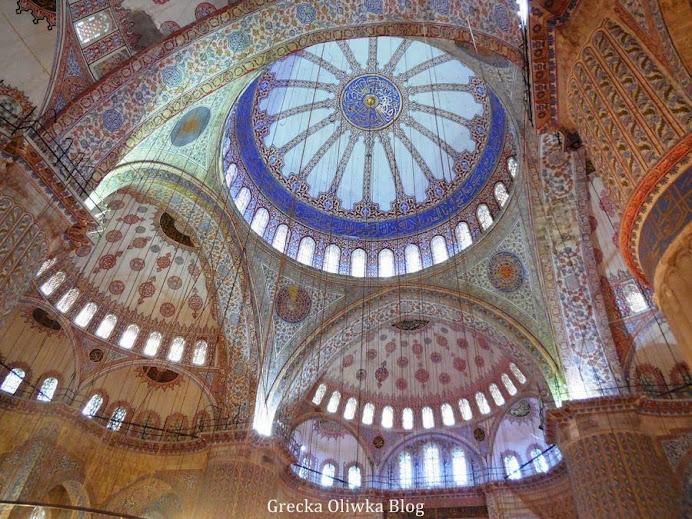 meczet, błękitne zdobienia