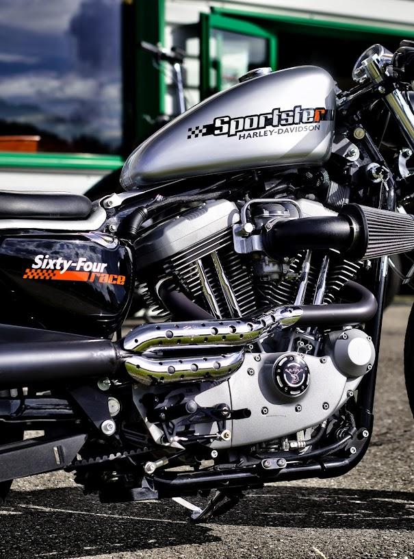 Américaines Sportster+moteur-HDR