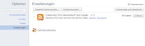 Chrome 15 Erweiterungen