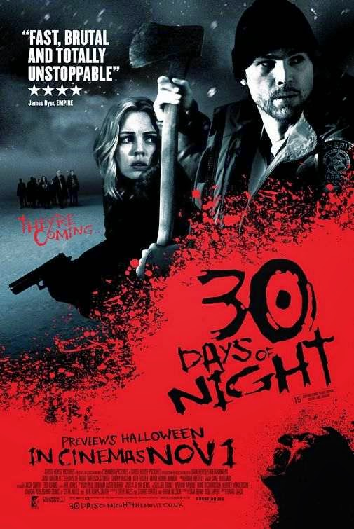 Poster Of 30 Days of Night (2007) Full Movie Hindi Dubbed Free Download Watch Online At Alldownloads4u.Com