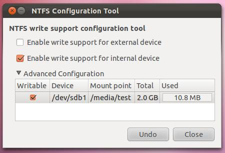 ntfs config tool