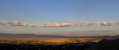 Sunset over Price, Utah