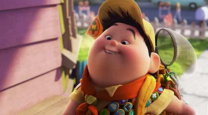 Screen Shot Of Hollywood Movie Up (2009) In Hindi English Full Movie Free Download And Watch Online at Alldownloads4u.Com