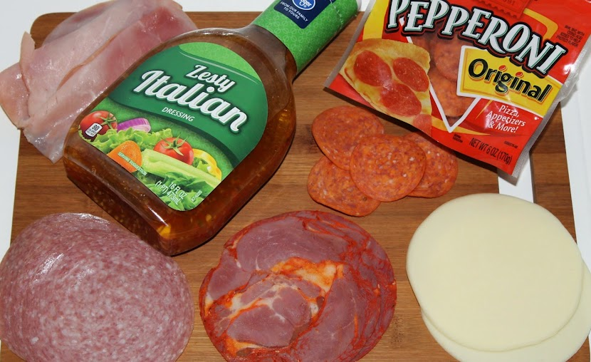 Meats and cheese for my Hot Italian Panini recipe #PepItUp
